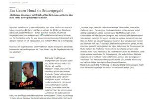 Hund als Schweigegeld für sexuellen Mißbrauch - Aktuelles & Presse von Steinberger & Heindl