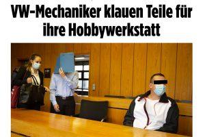 Mechaniker klauen Autoteile | Pressebericht Bild | Tom Heindl Strafrecht München