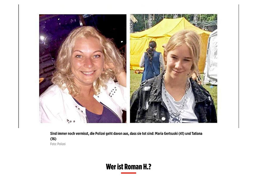Roman H. Pressebericht Bild | Tom Heindl Strafrecht München